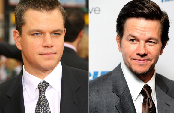 Matt Damon and Mark Wahlberg - The resemblance is uncanny - both were born in Massachusetts, hardly a year's difference between the two of them and both have four kids. And that is just off-screen info – onscreen they could play brothers and they wouldn't have to try at all.