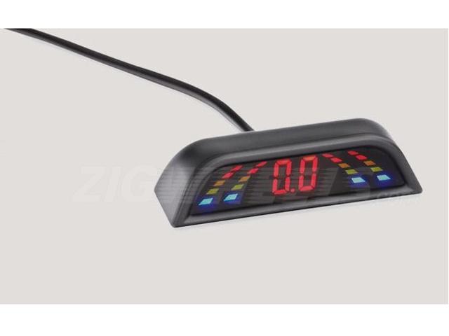 Reverse parking sensor with digital display