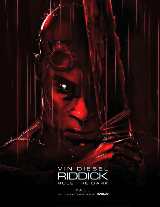 Movie: Riddick  Cast: Vin Diesel, Karl Urban, Katee Sackhoff, Jordi Mollà, Nolan Gerard Funk, Keri Hilson, Dave Batista  Director: David Twohy  Release Date: September 6, 2013  Trailer