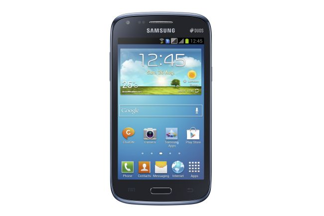 Samsung Galaxy Corecomes with a 4.3-inch WVGA TFT LCD with a 480x800-pixel resolution. The phone runs on Android Jelly Bean 4.1.