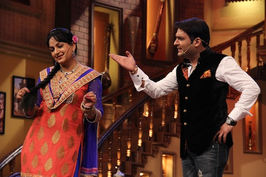 Upasna Singh with Kapil Sharma