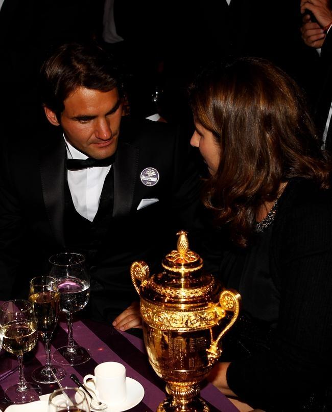 Roger Federer and Mirka
