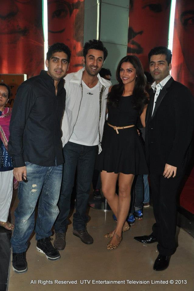 Ayan Mukerji, Ranbir Kapoor, Deepika Padukone and Karan Johar