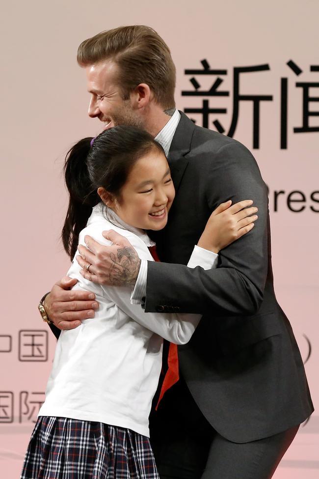 David Beckham With a Fan