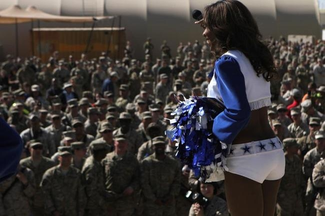 NFL Stars and Cheerleaders Entertain US Troops in Afghanistan