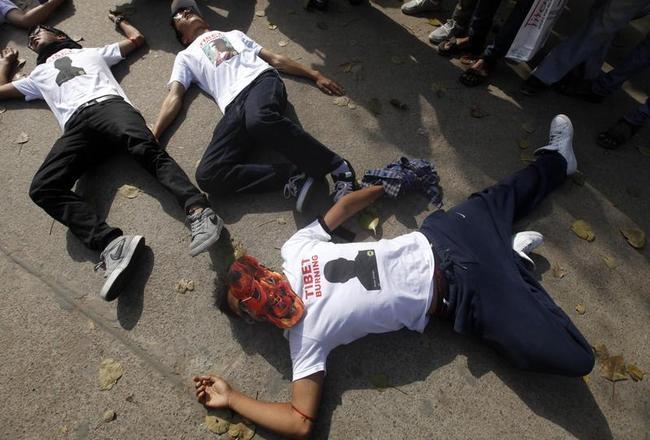 Tibetan Exiles Protest