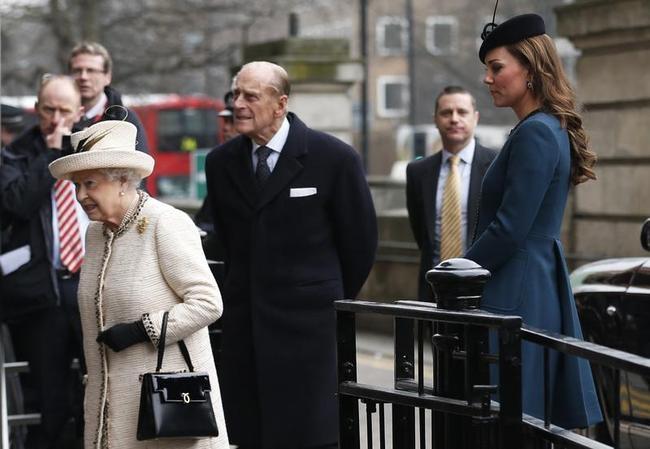 Duchess of Cambridge, Queen Elizabeth II, Prince Philip