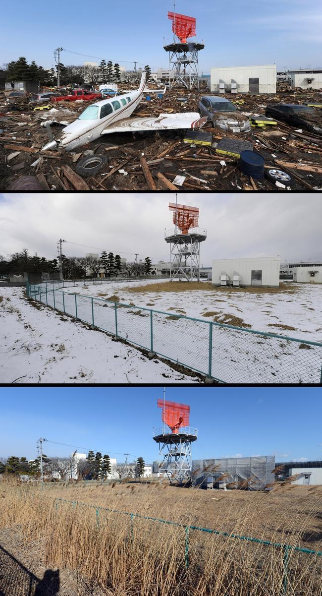 Tsunami's Destruction : Before & After Pics