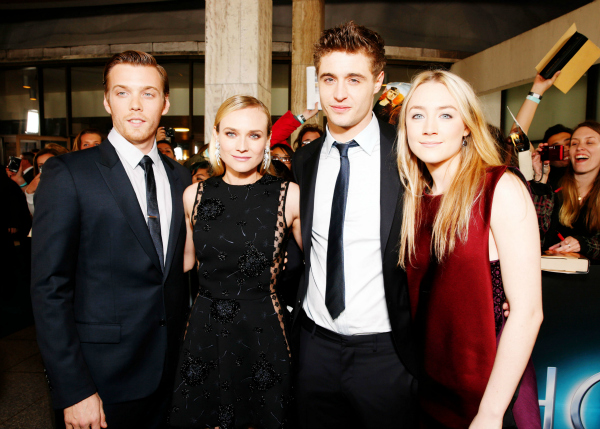 Jake Abel, Diane Kruger, Max Irons and Saoirse Ronan arrive at the LA premiere of 'The Host' at the ArcLight Hollywood on Tuesday, March 19, 2013 in Los Angeles.