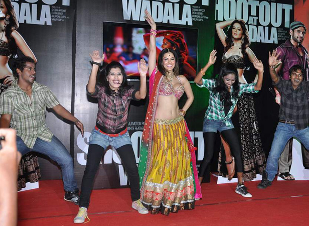 Sunny Leone promotes Shootout At Wadala at an event recently.