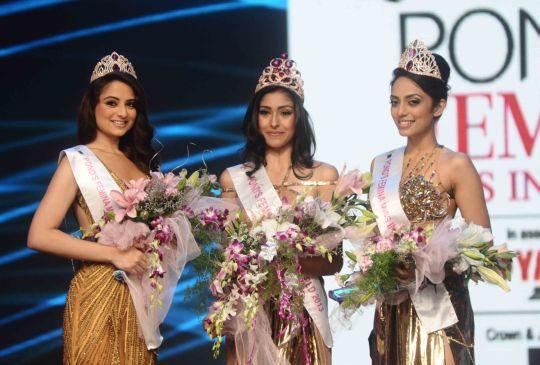 The Winners...(L-R) Zoya Afroz (2nd Runner up), Navneet Kaur Dhillon (Miss India 2013) and Shobita Dholipala (1st runner up)Photo: Shailesh Jadhav/BCCL