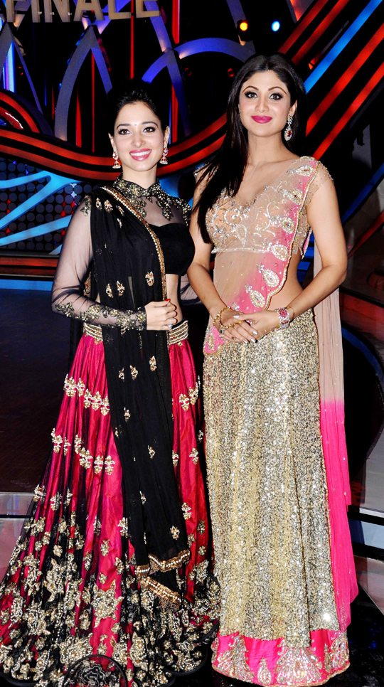 Tamanna and Shilpa Shetty
