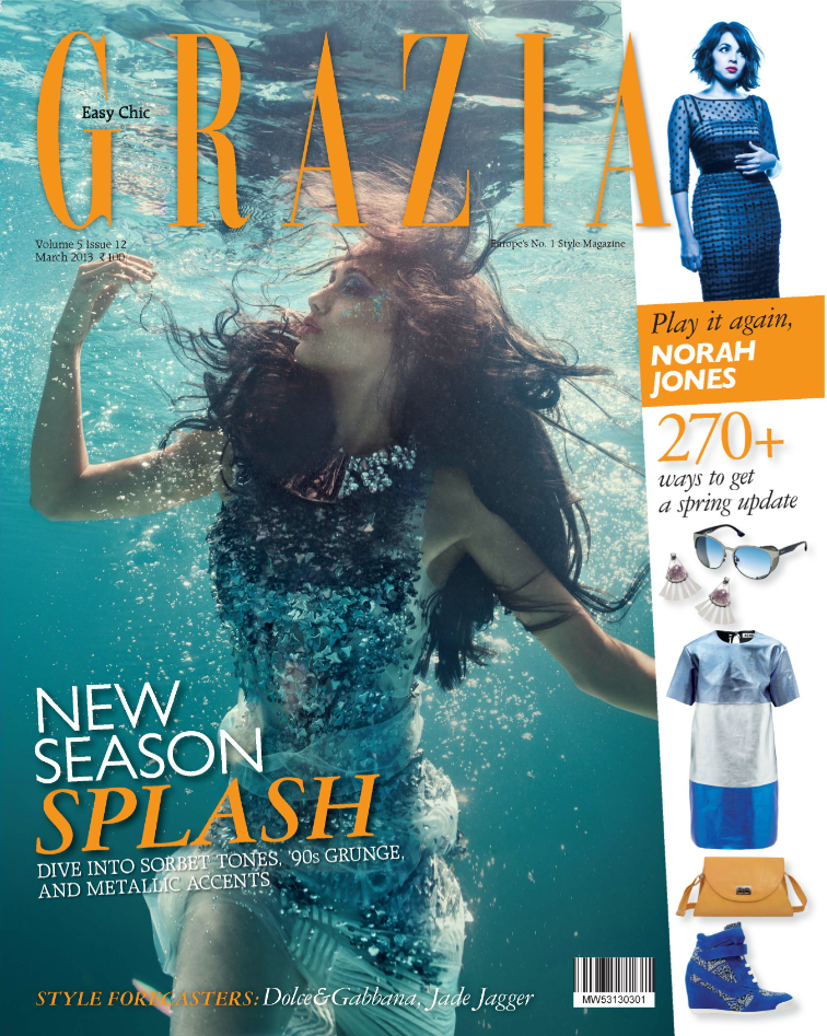 Angela Jonsson has done an exclusive one of its kind underwater shoot for the new cover of Grazia. She launched the cover at an event in Mumbai.