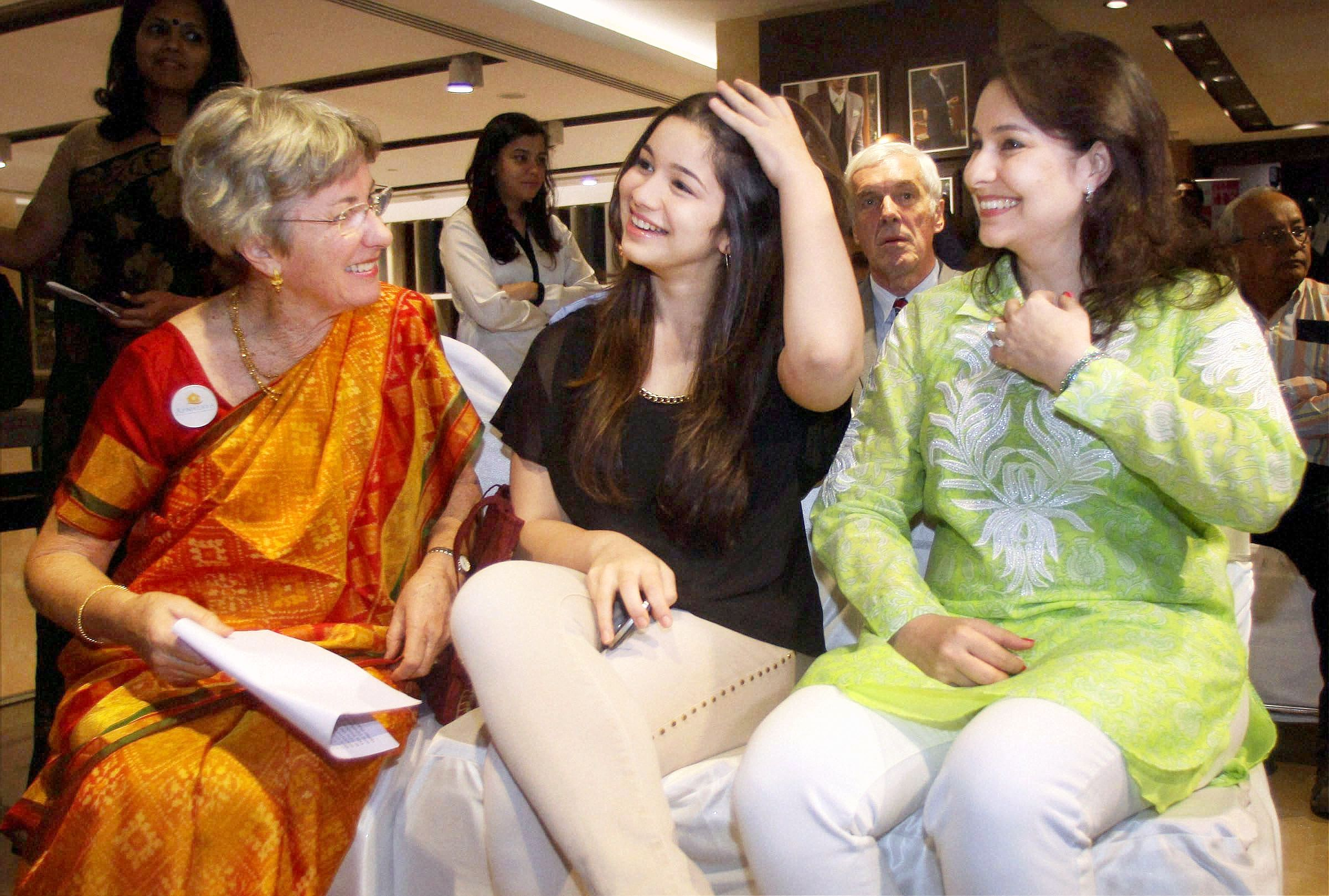 Anjali Tendulkar and Sara along with Sachin's Mother In Law Annabel were spotted at a charity event in Mumbai