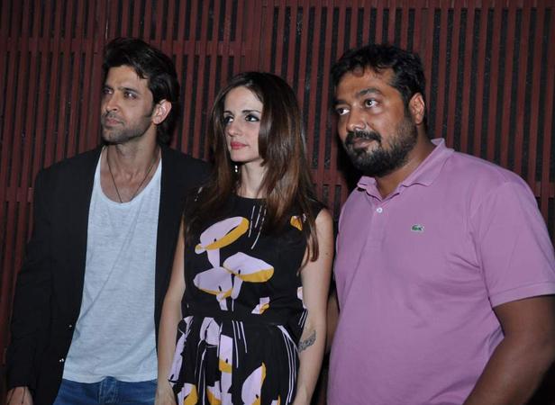 Hrithik, Suzanne Roshan, and Anurag Kashyap