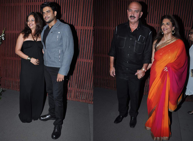Madhvan with wife Sarita, Rakesh Roshan with wife Pinky