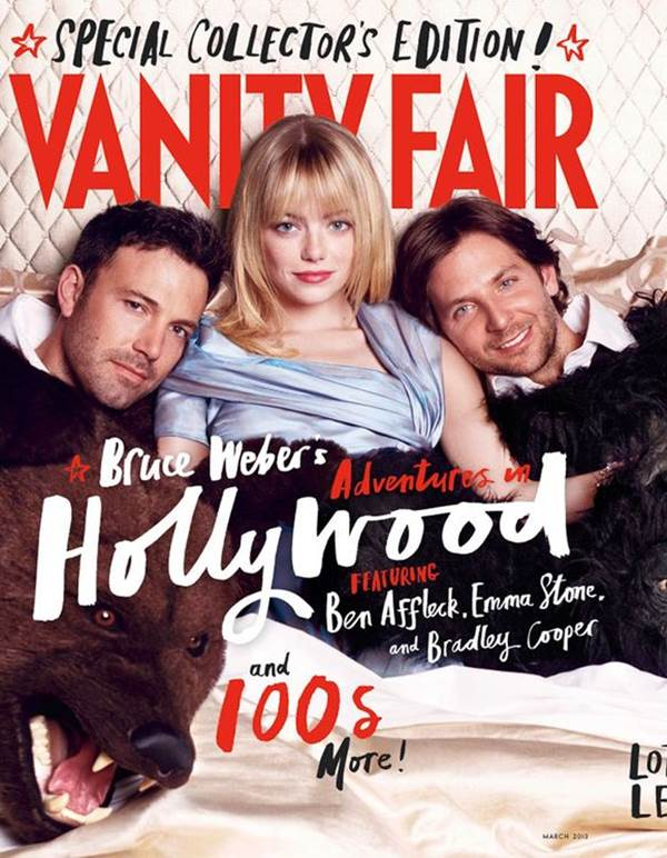 American actors Emma Stone, Ben Affleck and Bradley Cooper