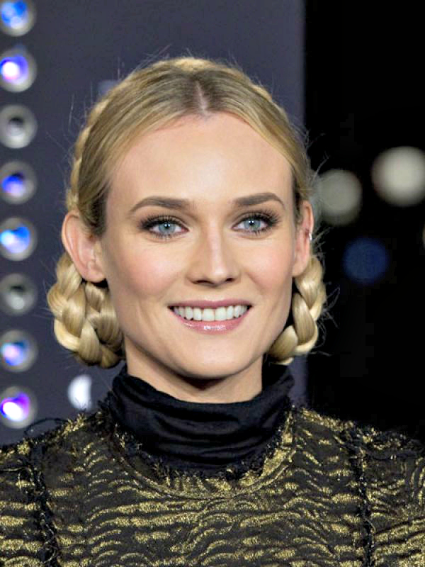 Diane Kruger: Pin your hair up in braids for a milkmaid effect. This hairstyle is most practical for summer.