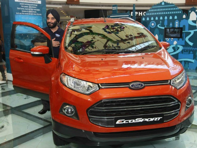 The vehicle's unveiling was part of Ford's new EcoSport Urban Discoveries campaign that will give 100 winners, picked through an online contest, a chance to drive the urban SUV around their cities.