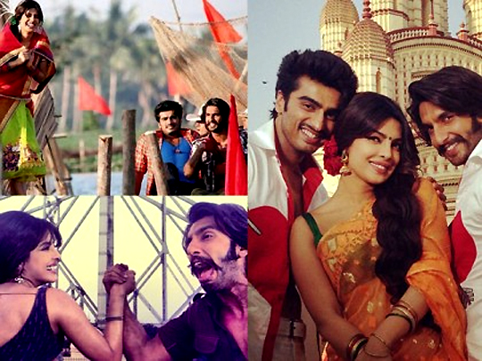 We bring to you pictures from Priyanka Chopra's Instagram page, clearly showing the mad time she is having with her co-stars, Ranveer Singh and Arjun Kapoor while shooting for YRF's Gunday. The film is directed by Ali Abbas Zafar.
