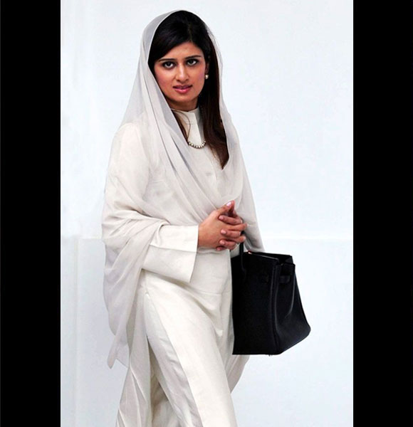 Hina Rabbani - Hina Rabbani Khar is Pakistan's youngest and first woman Foreign Minister. But she has made more news for her keen sense of fashion.