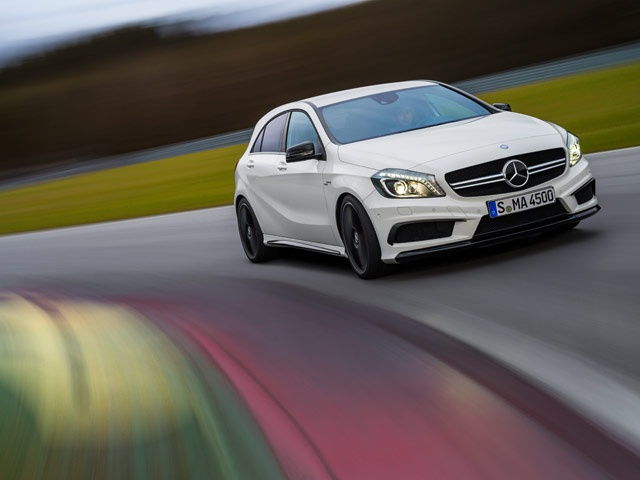 The A 45 AMG is representative of the