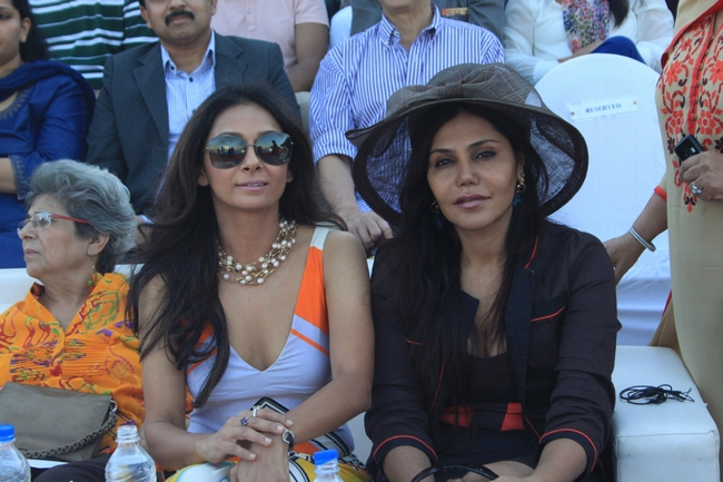 Socialite Nisha Jamwal was seen with Ira Dubey at the polo match organised by Argentine Consulate in association with Sula Selections in Mumbai.