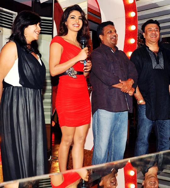 Ekta Kapoor, Priyanka Chopra, Sanjay Gupta and Annu Malik