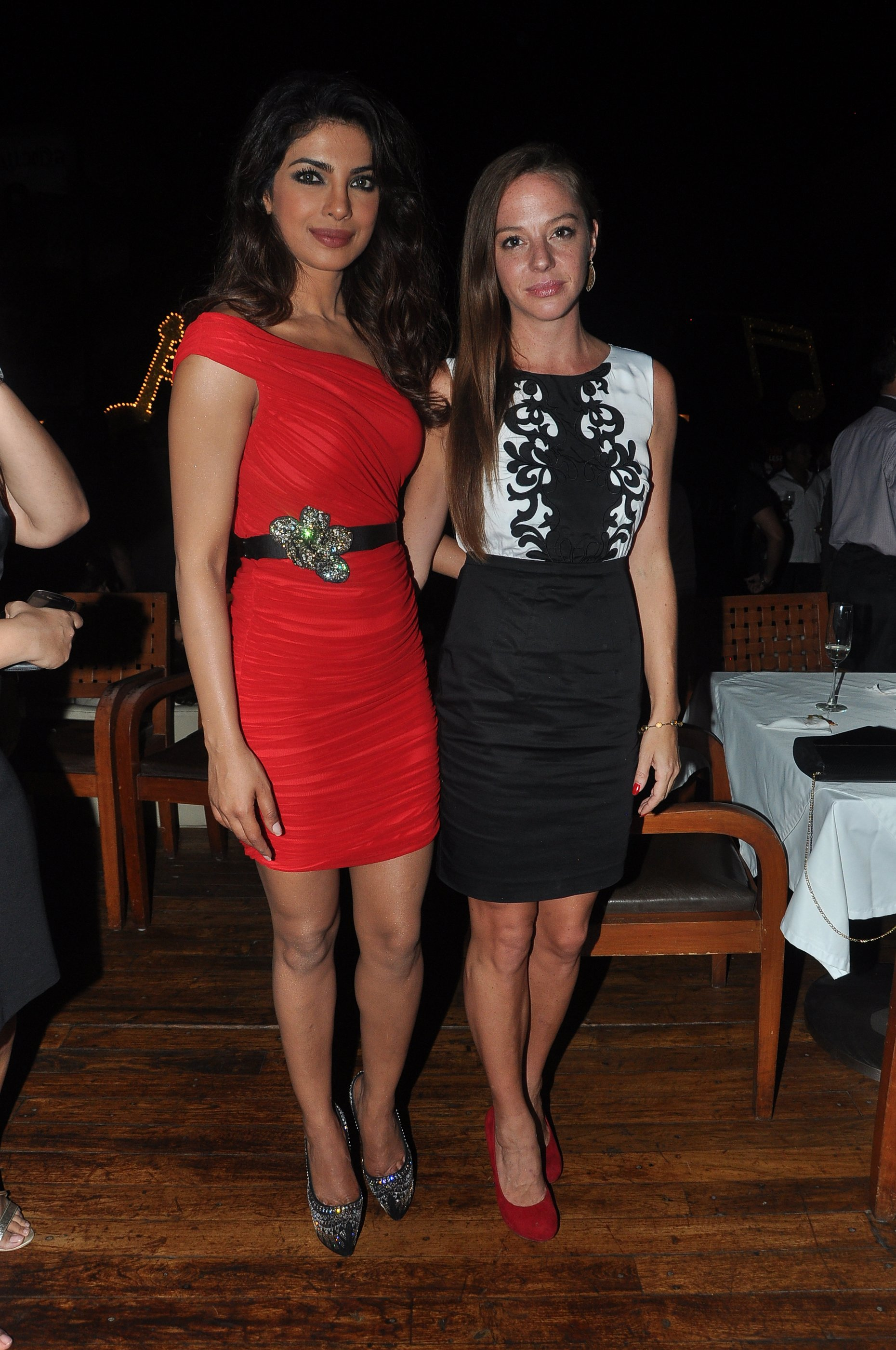 Priyanka Chopra with Cecilia Oldne, Head - International Business, Global Brand Ambassador - Sula Vineyards