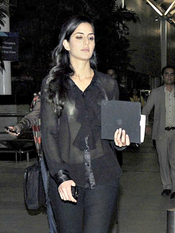 Katrina Kaif Where: Spotted at the airport
