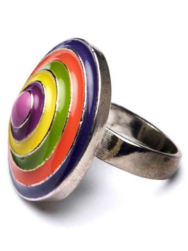 What: Multi-coloured ring