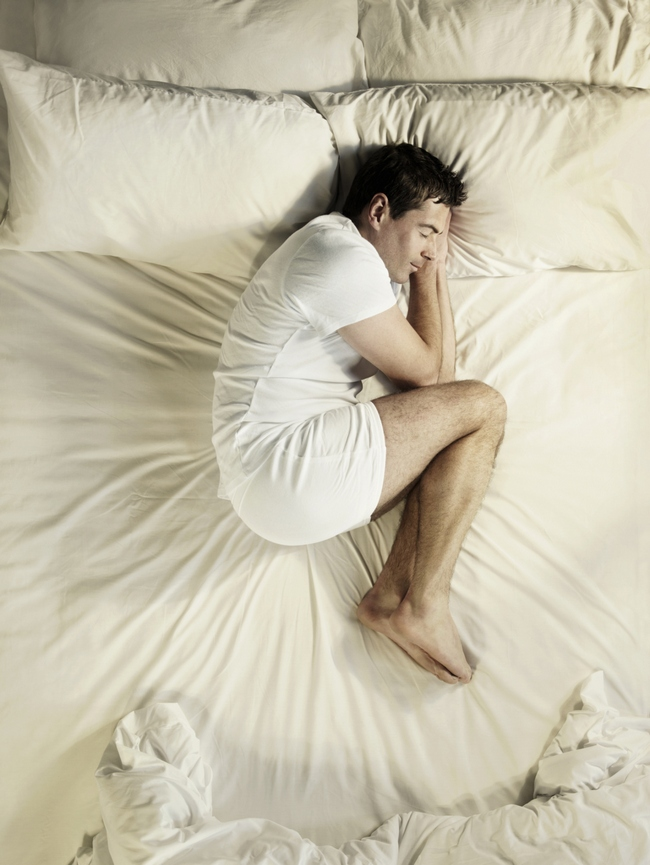 Pay attention to your sleeping position: We never pay attention to our sleeping position which is why we end up getting up sometimes in the middle of the night. Sleeping in a foetal position is recommended for a good sleep. Never sleep with face down and arms outstretched as it obstructs respiration. Photo: Getty Images