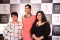 Sonam Kapoor with Manshi Guha, Marketing Manager- L'Oreal Paris (L) and Tanya Chaitanya, Editor, Femina