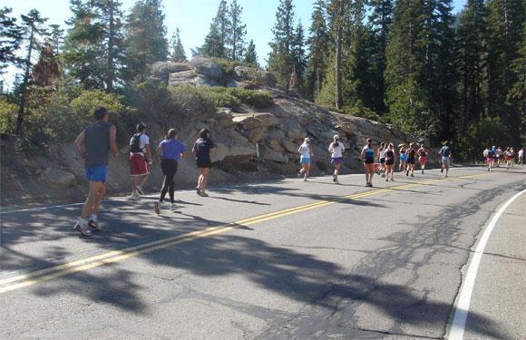 Lake Tahoe Marathon, Tahoe City, Calif.