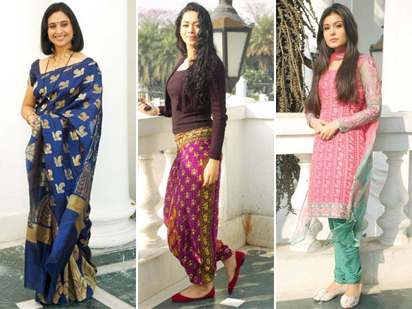 When it comes to style both on and off the sets, the reigning queens of television are nothing but clueless. From ugly salwar suits to nondescript saris and mismatched Indo-western outfits, here's a look at the wardrobes of some TV actresses.