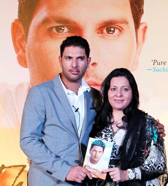 Yuvraj Singh with mother Shabnam Singh.