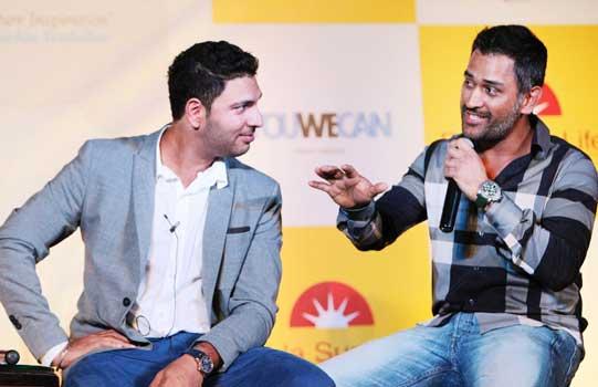 M S Dhoni and Yuvraj Singh