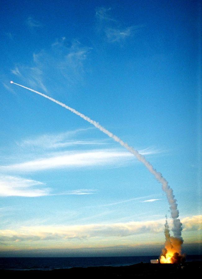 TEST LAUNCH OF ARROW MISSILE INTERCEPTOR IN PALMACHIM AIR BASE.