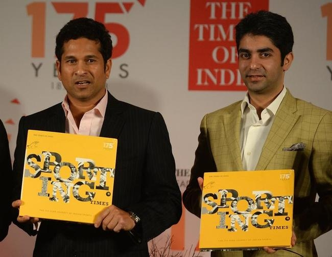 Sachin Tendulkar and Abhinav Bindra