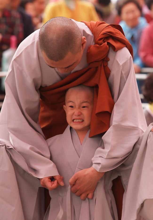 Children Become Buddhist Monks