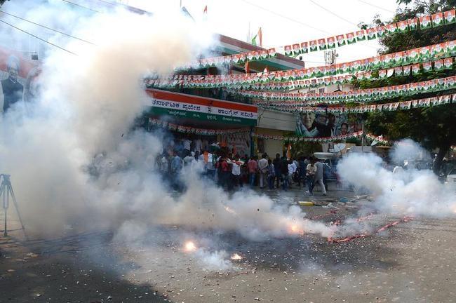 Congress Celebrates Karnataka Win: PICS