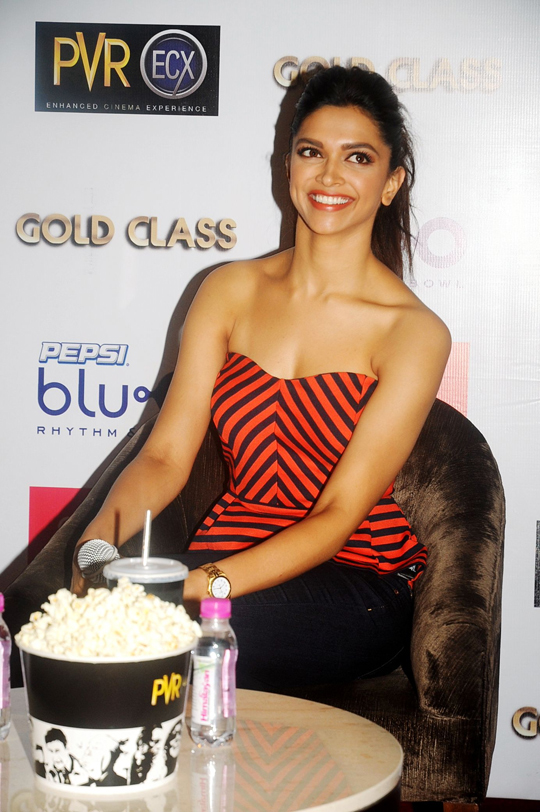 Deepika Padukone during a promotional event for her upcoming film Yeh Jawaani Hai Deewani, in Bengaluru, on 23rd May.