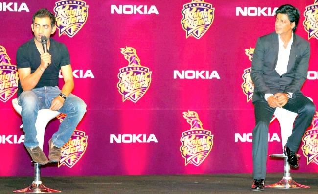 Shah Rukh Khan and Gautam Gambhir