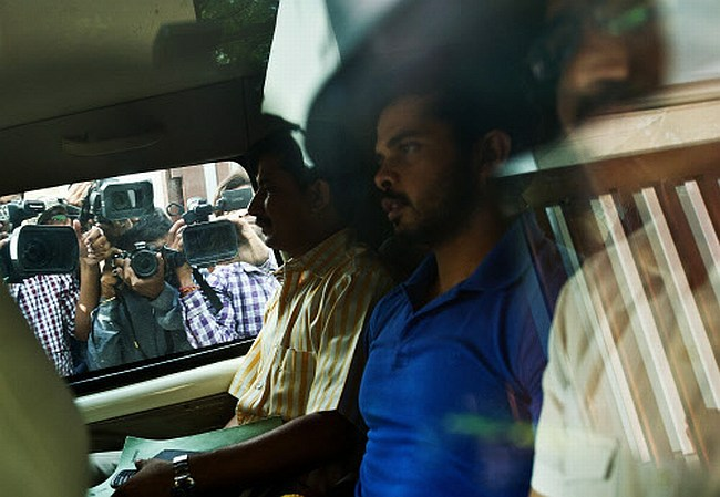 Cricketer S Sreesanth being taken to court in New Delhi for his alleged  links with bookies accused of spot-fixing in the IPL's on-going edition.