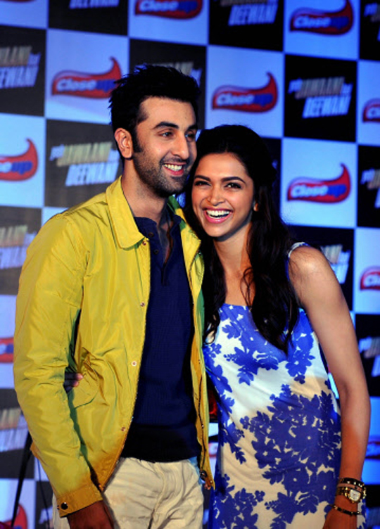 Ranbir Kapoor, Deepika Padukone at a promotional event for their forthcoming film Yeh Jawaani Hai Deewani, in Mumbai, on 17th May.