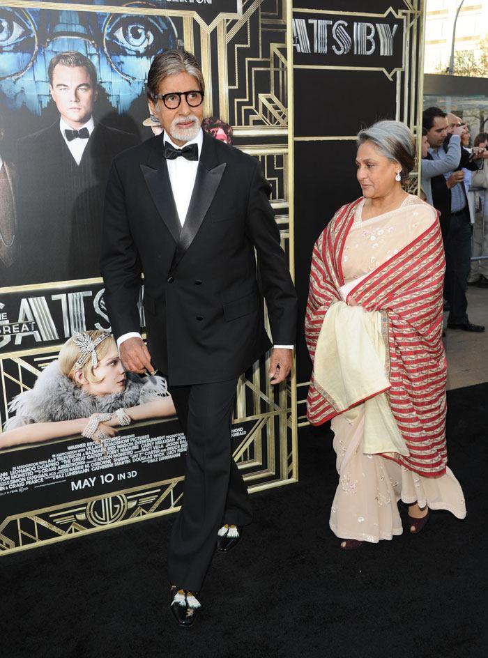 Amitabh, Jaya Bachchan at The Great Gatsby premiere in New York