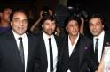 Dharmendra, Sunny Deol, Shah Rukh Khan, Bobby Deol