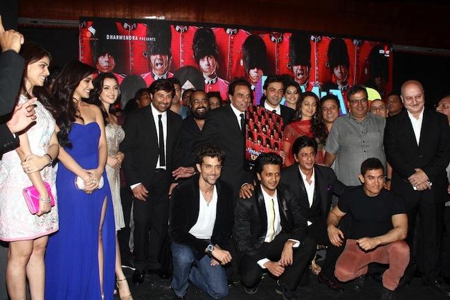 Hrithik Roshan, Ritesh Deshmukh, Shah Rukh Khan, Aamir Khan