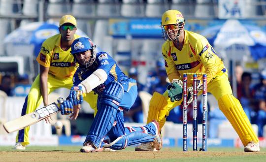 Mumbai Indians vs Chennai Super Kings 6th Indian Premier League IPL Match at Wankhede Stadium in Mumbai on Sunday.