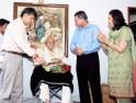 Pran, I&B Minister Manish Tewari